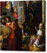 Daniel And Cyrus Before The Idol Bel Canvas Print