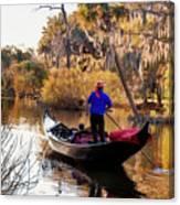 Gondola In City Park Lagoon New Orleans Canvas Print