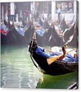 Gondola In Venice In The Morning Canvas Print