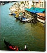 Gondola In Venice Italy Canvas Print