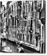 Gondola Ride In Venice Canvas Print