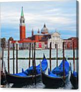 Gondola Station  On Grand Canal Canvas Print