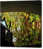 Gondola Under A Bridge Canvas Print