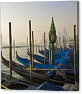 Gondolas At San-marco, Venice, Italy Canvas Print
