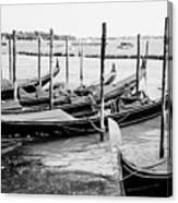 Gondolas By St Mark's Canvas Print