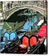 Gondolas Fresco  Canvas Print