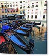 Gondolas In Orseolo Basin Venice Canvas Print