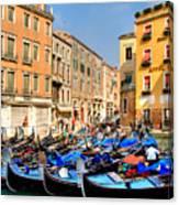 Gondolas In The Square Canvas Print
