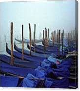 Gondolas In Venice In The Morning Canvas Print