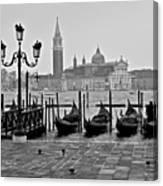 Gondolas Of San Marco Square Canvas Print