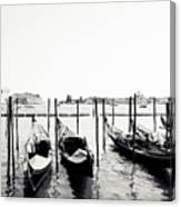 Gondolas Of Venice Canvas Print