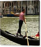Gondolier With Matching Socks Canvas Print