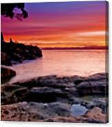 Gone Fishing At Sunset Canvas Print