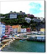 Gone Fishing In Sorrento Canvas Print
