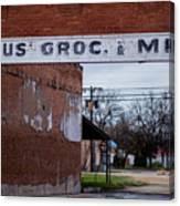 Gone Grocery 4 #vanishingtexas Street Scene Rosebud Texas Canvas Print