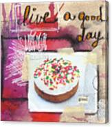 Good Day Donut- Art By Linda Woods Canvas Print