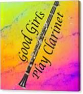 Good Girls Play Clarinet 5028.02 Canvas Print