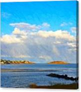 Good Harbor Clouds And Sun Canvas Print