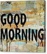 Good Morning Coffee Collage 9x12 Canvas Print