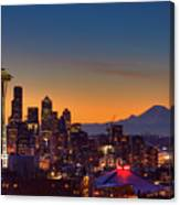 Good Morning From Kerry Park Canvas Print