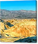 Good Morning From Zabriskie Point Canvas Print