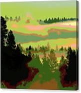 Good Morning In Spokane Canvas Print