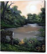 Good Morning My Deer. Canvas Print