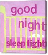 Good Night Baby Canvas Print