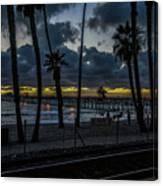 Good Night San Clamente Pier 2 Canvas Print
