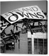 Goodbye Cleveland Stadium Canvas Print