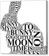 Goodnight My Bunny Canvas Print