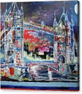 Goodnight Tower Bridge Canvas Print