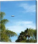 Goodyear Blimp Spirit Of Innovation In Florida Canvas Print