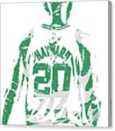 Gordon Hayward Boston Celtics Pixel Art T Shirt 5 Canvas Print