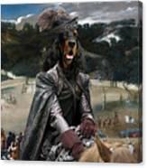 Gordon Setter Art Canvas Print - Philip Iv Hunting Wild Boar  Canvas Print