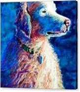 Gorge Dog Canvas Print