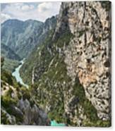 Gorge Du Verdon Canvas Print