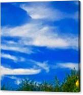 Gorgeous Blue Sky With Clouds Canvas Print