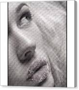 Gorgeous Girl With Sugar On Her Lips Canvas Print