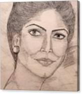 Gorgeous Lady Canvas Print