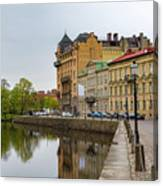 Gothenburg Canal And Park Canvas Print