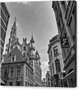 Gothic And Modern In Brussels Canvas Print
