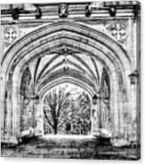 Gothic Architecture At Princeton University  Princeton New Jersey Canvas Print