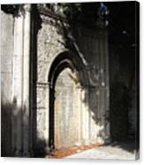 Gothic Darkness. Old Gate Canvas Print