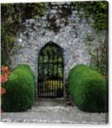 Gothic Entrance Gate, Walled Garden Canvas Print
