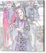 Gothic Ice Cream Girl Canvas Print