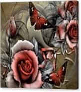 Gothic Roses Canvas Print