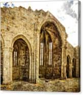 Gothic Temple Ruins - San Domingos - Vintage Version Canvas Print
