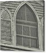 Nantucket Gothic Window  Canvas Print