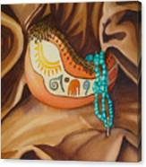 Gourd With Turquoise Canvas Print
